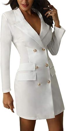 Tejido muy suave y cómodo de llevar,Este vestido mini de blazer sexy y elegante es una necesidad abs