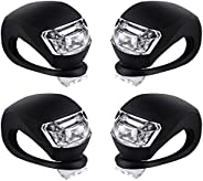 Malker Bicycle Light Front and Rear Silicone LED Bike Light Set - Bike Headlight and Taillight,Waterproof &