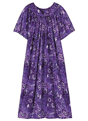 amerimark-womens-waltz-length-lounger-lg-14-16-purple-paisley