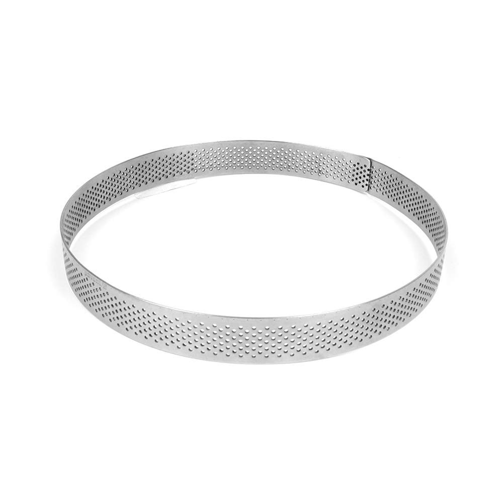TableTop King''Progetto Crostate'' Perforated Stainless Round Tart Ring 6-3/4'' (17cm) Dia. x 3/4'' (2cm) High