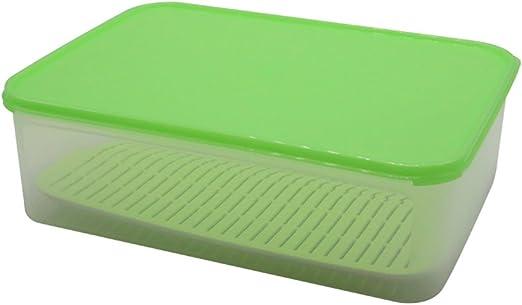 Para frutas y verduras Con la rejilla sellada fría caja de almacenamiento Crisper plástico refrigerador Crisper: Amazon.es: Hogar