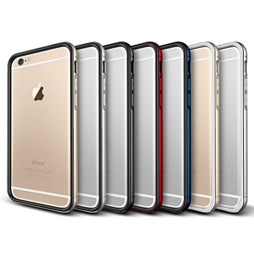 Verus Iron Premium Bumper mit Schutzfunktion und Schrammen für Apple iPhone 6 weiβ/gold