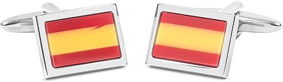 SoloGemelos - Gemelos Bandera España - Rojo, Amarillo - Hombres - Talla Unica: SoloGemelos: Amazon.es: Ropa y accesorios