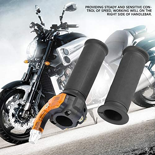 Kimiss 1 Paar Motorrad Gasgriff Gaspedal Universal Gasgriff Lenker Gasgriff Mit Elektrischem Drehgriff Und Kabel Auto