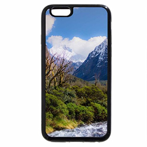 iPhone 6S Case, iPhone 6 Case (Black & White) - fantastic rocky valley stream in spring