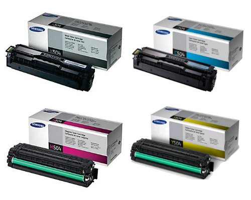 Samsung Part# CLT-K504S. CLT-C504S. CLT-M504S. CLT-Y504S Toner Cartridge Set (OEM) by Samsung