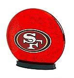 NFL San Francisco 49Ers 3LED3826Indoor LED Glass Globe, San Francisco 49Ers, Red