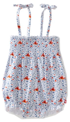 Zutano Baby Girls' Crabby Bubble Bodysuit