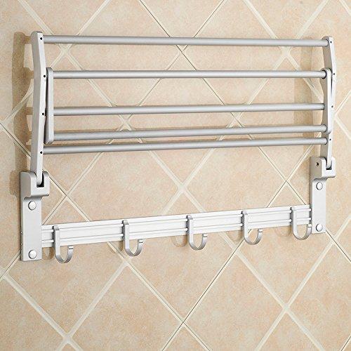 MDRW-Towel Rack Space Aluminum Bathroom Pendant Space Aluminum Bathroom Folding Double