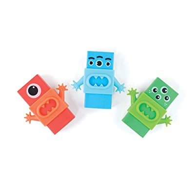 Monster Erasers - Set of 3: Arts, Crafts & Sewing