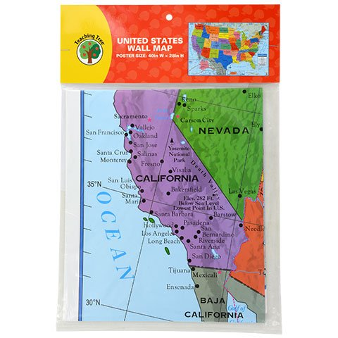 Class Map - Back to School Toddler Pre-School Elementary School Classroom Teaching Tree United States Wall Map