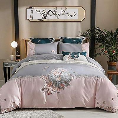 wenhu Bed Set clásico del Estilo del Bordado del algodón Egipcio ...