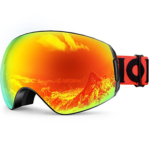 ZIONOR XA Ski Snowboard Snow Goggles for Men Women Anti-fog UV Protection Spherical Dual Lens - Glare Snow