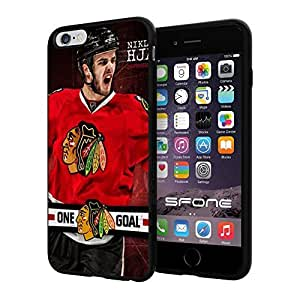 Chicago Blackhawks Logo #1300 iphone 6 4.7 Case Protection Scratch Proof Soft Case Cover Protector