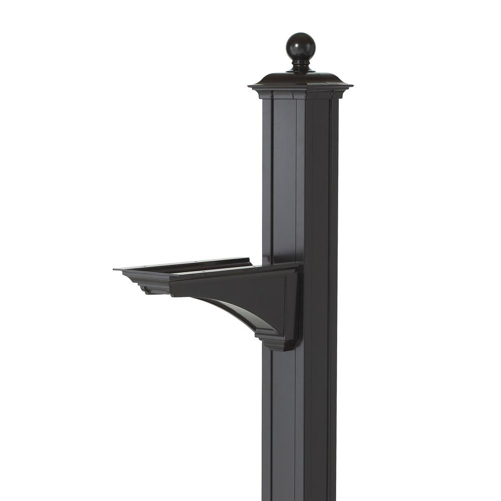 Whitehall Products Balmoral Mailbox Post with Ball Finial