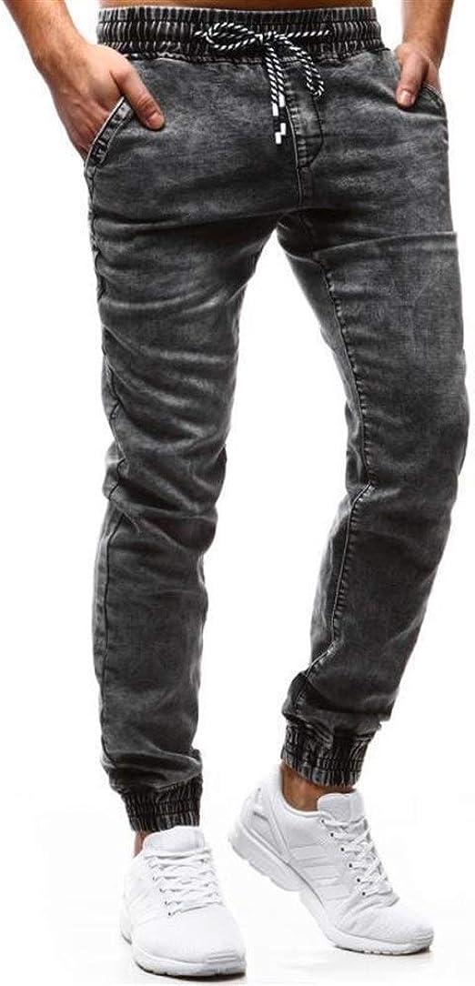 OPPUKI メンズスキニージーンズメンズ緩いテザー カジュアルなデニム ズボンを伸縮性JEM009