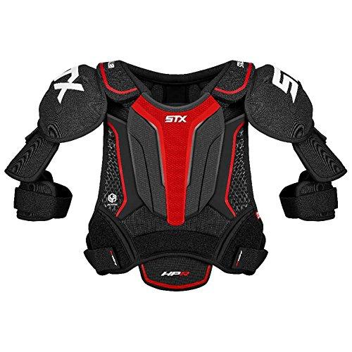 STX Ice Hockey HP SPH0 JR 02 BK/RD Stallion HPR Junior Shoulder Pad, Medium, Black/Red