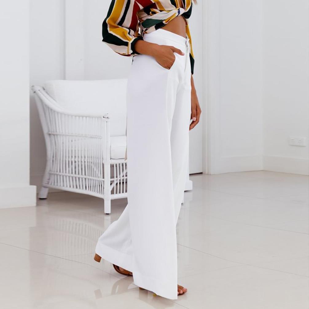 Amazon.com: GoodLock Pantalones de cintura alta para mujer ...