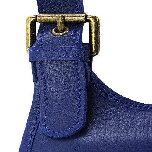 Oh Cartouchière Roi Besace Sac Lisse Bleu À My Main Soldes Style Cuir Bag RzAHRr