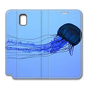 Note 3 Case, Galaxy Note 3 Flip Case, Fashion PU Leather Folio Custom Electric Jellyfish Swimming Protective Case Cover for Samsung Galaxy Note 3 by mcsharks