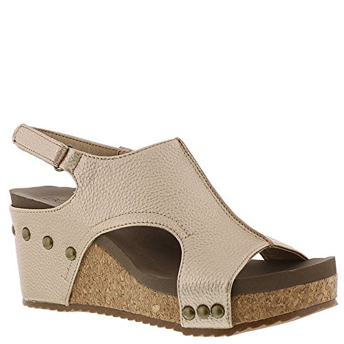 Corkys Women's London Wedge Sandal, Bronze (9 M US, Gold) from Corkys