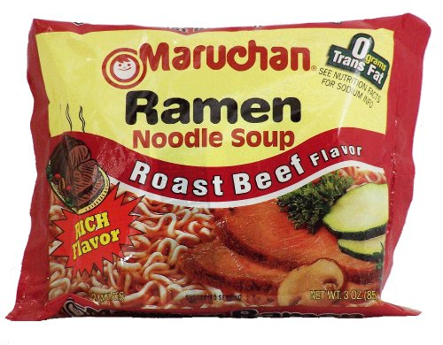 Maruchan ROAST BEEF FLAVOR Ramen Noodle Soup 3oz (6 pack)