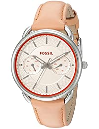 Fossil Women's ES3952 Tailor Multifunction Papaya Leather Watch