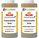 Trachea Soother Syrup 2PAK Hound Honey – Natural Herbal Remedy for Symptoms of Collapsed Trachea – Tastes Good – Easy to Administer (5 fl oz/ea)