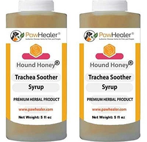 PawHealer Trachea Soother Syrup 2PAK Hound Honey - Natural Herbal Remedy for Symptoms of Collapsed Trachea - Tastes Good - Easy to Administer (5 fl oz/ea) ...