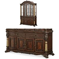 Michael Amini Victoria China and Buffet Cabinet, Light Espresso