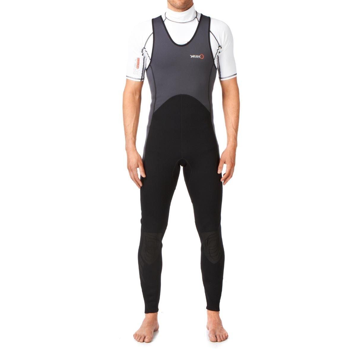 Yak 'Step In' 3mm Long John Wetsuit Grey/Black 5405-A Sizes- - Medium   B0085JWGDM