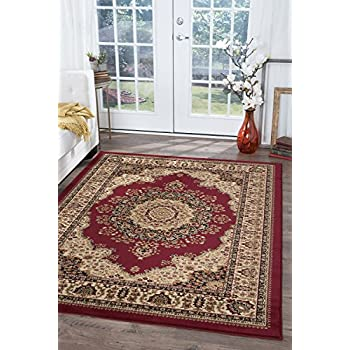 universal rugs red 9x12 area rug 8feet 9inch by 12