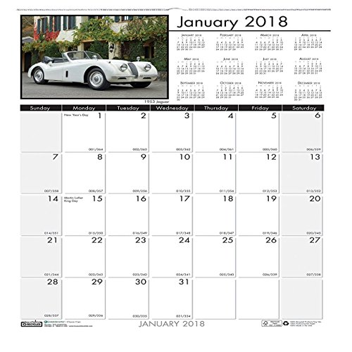 Doolittle Classic Cars - Bulk 2019 Classic Cars Wall Calendars, Recycled: HOD3771 (18 Wall Calendars)