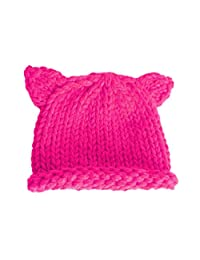 BIBITIME Knit Beanie Cat Ears Cap for Baby & Kids & Pussycat Hat Women's March