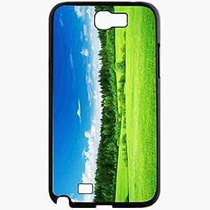 Unique Design Fashion Protective Back Cover For Samsung Galaxy Note 2 Case Green Nature Landscape Beautiful Black