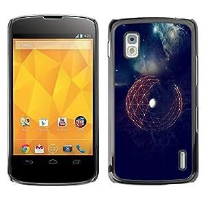 Be Good Phone Accessory // Dura Cáscara cubierta Protectora Caso Carcasa Funda de Protección para LG Google Nexus 4 E960 // Space Sci-Fi Earth Futuristic Minimalistic