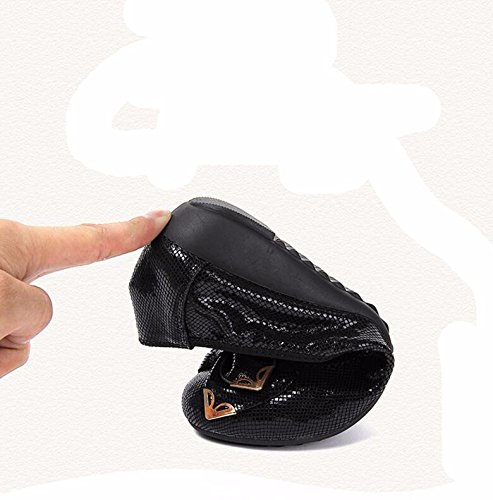Gtvernh-primavera Y Otoño De Las Mujeres De La Edad Media Y Solamente Zapatos Versión Coreana De La Comodidad Zapatos Inferiores Planas Señoras Madre De Zapatos Suave Inferior Ocio Zapatos De Frijol. 37 Negro