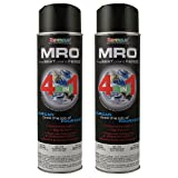 Flat Black MRO Industrial Enamel Spray Paint ~ Seymour 620-1433 ~ 20 Oz Cans ~ Qty (2)