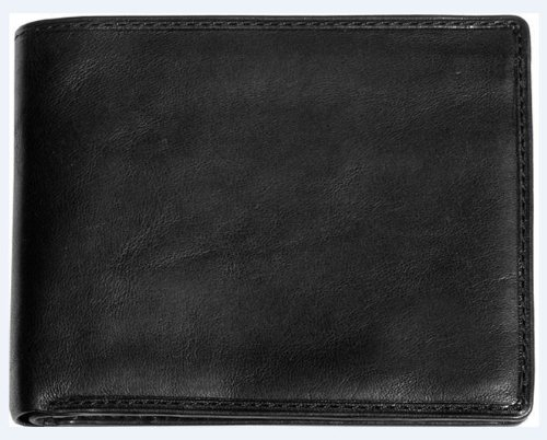 Tony Perotti Mens Italian Cow Leather Express Bifold Wallet with Front ID Window Flap