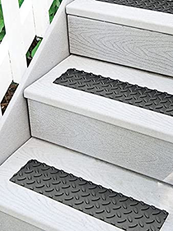 17u0026quot; Self Adhesive Rubber Non Slip Stair Treads   Set Of ...