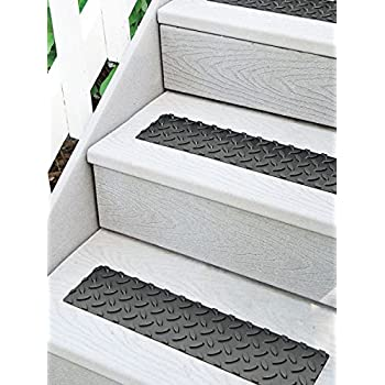 rubber stair treads for concrete steps amazon self adhesive non slip set black home depot