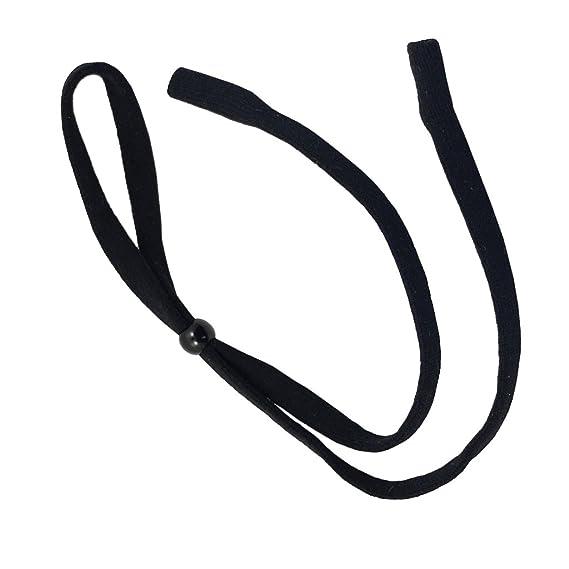 f5e74d85e21 Magideal Soft 10 mm Eyeglasses Strap Neck Cord Sunglasses Lanyard Holder Sports  Band (Black)