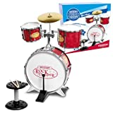 Bontempi Metallic Silver 4 Piece Drum Set