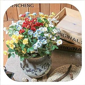 Memoirs- 1 Piece Rose Bouquet Artificial Fake Flower Plastic Silk Flower Indoor Decoration Pot Planting Flower Living Room Decor 110