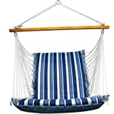 Algoma 1500-135142 Hanging Soft Cushion Chair, Palm Stripe Blue Review