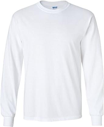 4XL Pack of 12 Gildan Cotton 6 oz Long-Sleeve T-Shirt Grey G240