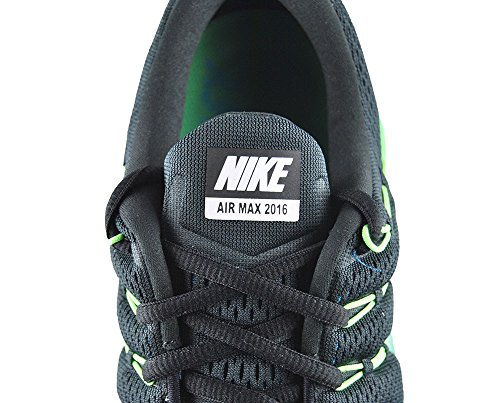 Nike Air Max 2016, Zapatillas De Running para Hombre Negro (Negro (black/multi-color-midnight turq))