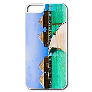 IPhone 5 5S Cases, Sea Bungalows White Cover For IPhone 5 5S