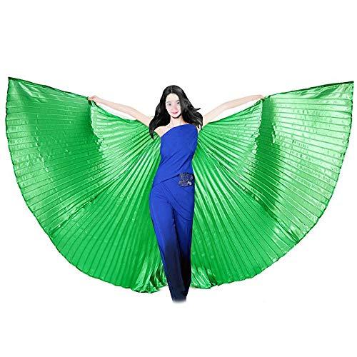 UPLEYING Belly Dance Silk Veil Belly Dance Costume Full Isis Wings Performance Clothing Women Girls -