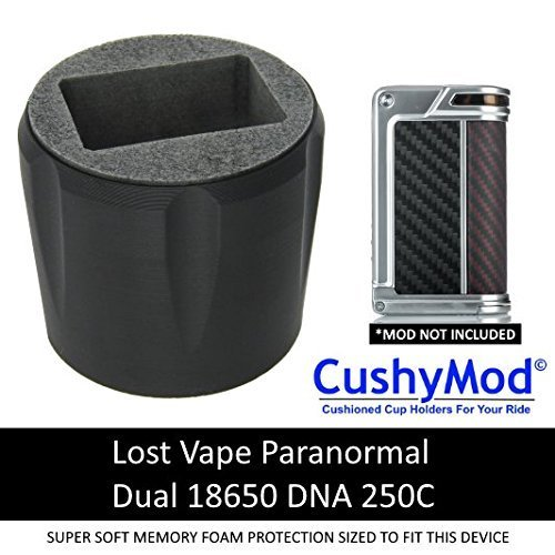 Lost Vape Paranormal DNA 250C [BLACK] CUP HOLDER CushyMod Cover Wrap Skin Sleeve Case ()